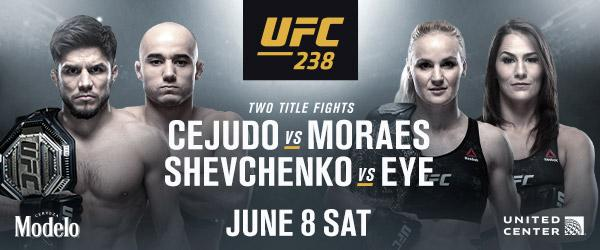 UFC 238 Cejudo vs Moraes n Shevchenko vs Eye - MMA Fight Radio