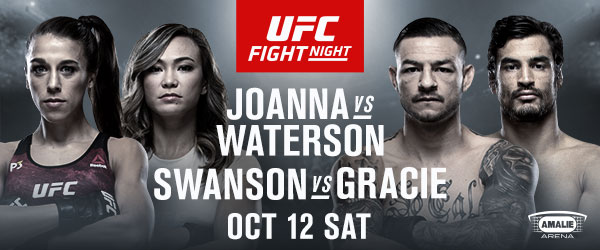 Michelle Waterson vs JOANNA JEDRZEJCZYK n Swanson vs Gracie UFC Fight Night Oct 12 - MMA Fight Radio