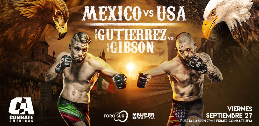 Combate Americas HORACIO THE PUNISHER GUTIERREZ VS CHASE EL GUERO GIBSON - MMA Fight Radio