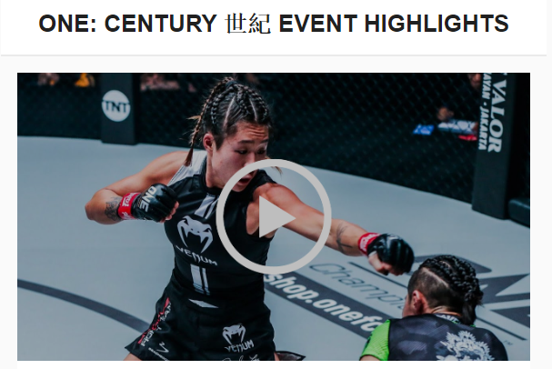 one century highlights mma fight radio