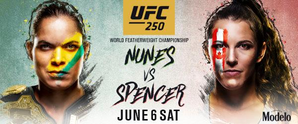 UFC 250 Sat June 6 How to Watch , Hear Interview & Full Fight Card