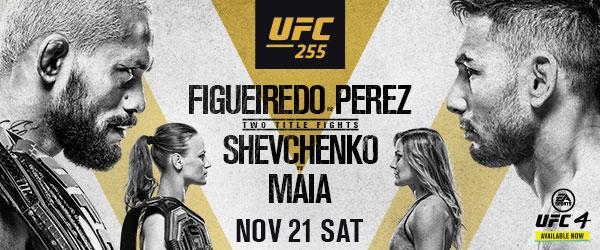 UFC 255 Figueiredo vs Perez Nov 21 MMA Fight Coverage