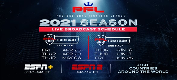 PFL 2021 Season Schedule -mma fight coverage