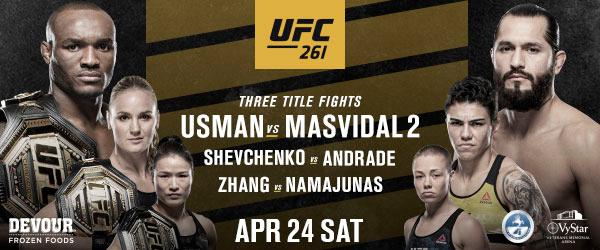 UFC 261 WELCOMES BACK LIVE FANS - MMA Fight Coverage